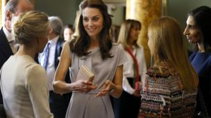The Duchess of Cambridge at Spencer House, London
