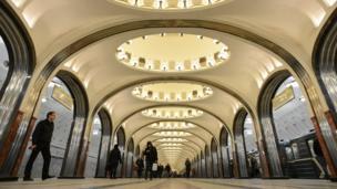 Nhà ga tàu điện ngầm Mayakovskaya, Moscow