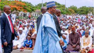 Aarẹ Muhammadu Buhari lọ Yidi