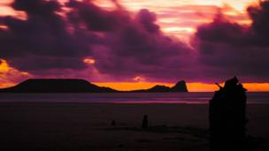 Worm's Head at Rhossili was snapped by Richard Bertin from Barry