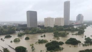 Flooded in central Houston (27 August 2017)