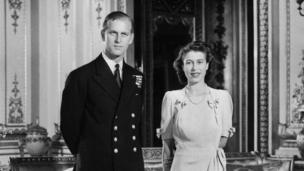 英国女王和爱丁堡公爵菲利普亲王