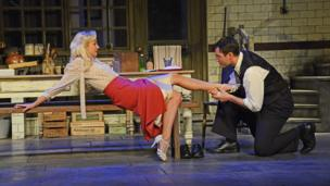 Helen George and Richard Flood in After Miss Julie