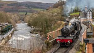 The Llangollen Railway at Berwyn