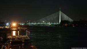 The Ada Bridge in Belgrade
