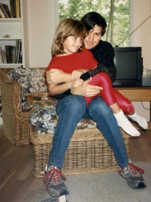 Steve Jobs con su hija Lisa