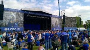 Stage for Leicester in Victoria Park