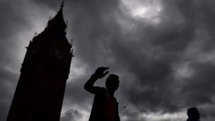 Big Ben in silhouette