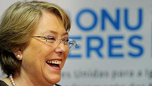 Chilean former president Michelle Bachelet
