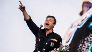 James Dean Bradfield, lead vocalist and guitarist of Manic Street Preachers