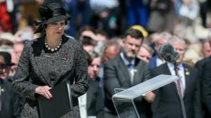 UK Prime Minister Theresa May gave a reading at the ceremony
