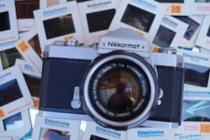 A Nikkormat camera