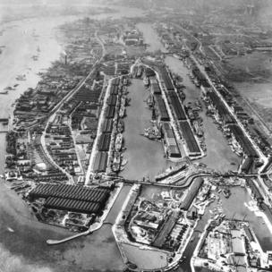Royal Docks, mid 20th century