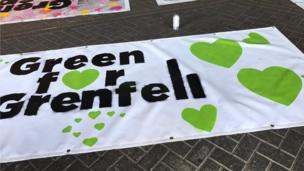 This year, many people took time at Carnival to remember the victims of the Grenfell Tower fire. Grenfell Tower is close to the route of the parade.