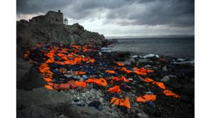 Lifejackets in Lesbos