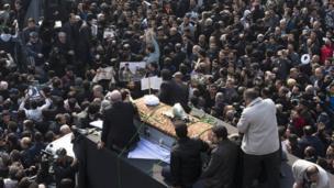 اکبر رفسنجانی کی تدفین