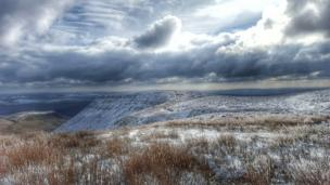 A shot of the Brecon Beacons covered in a blanket of snow is getting us in the Christmas spirit