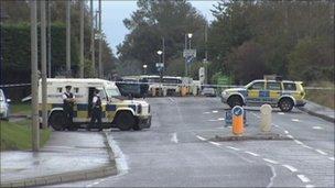 Buncrana Road bomb alert