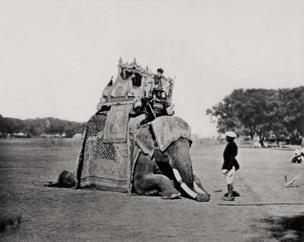 Delhi, His Eminence, The Viceroy's Elephant, Delhi Durbar, 1877, Courtesy MAP / Tasveer