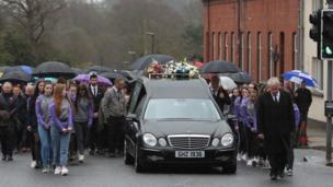 Lauren Bullock funeral cortege