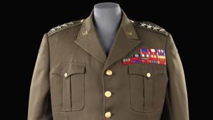 Uniform worn by actor George C Scott in the film Patton, 1970
