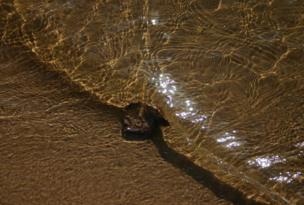 Agua sobre la arena