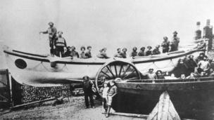 The first RNLI lifeboat at Sheringham was the Duncan, built at a cost of £345 donated by Mrs. Agnes Fraser (nee Duncan) in memory of her father and uncle. It was launched in July 1867.