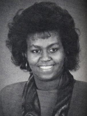 Michelle Obama, entonces Michelle LaVaughn Robinson, cuando estudiaba en la Universidad de Harvard en 1988.