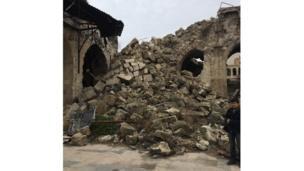 Restos de los alminares destruidos de la mezquita de Umayyad