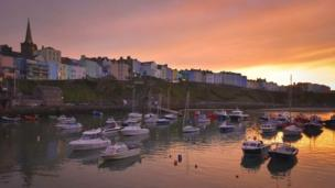 Sunset at Tenby Harbour
