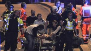 Heridos están siendo atendidos.