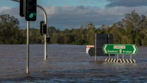 مدينة خالية من السكان بسبب الفيضانات.