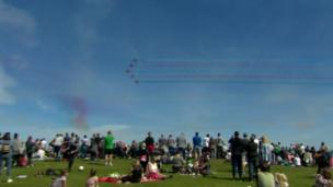 The Red Arrows over Newcastle