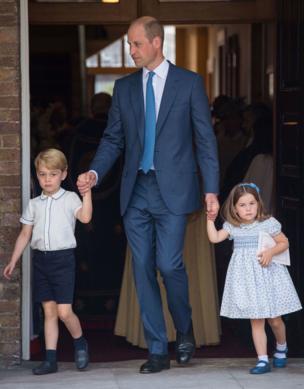 Джордж и Шарлотта с отцом Уильямом