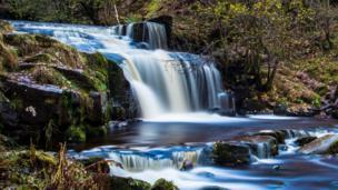 Waterfall above Talybont Reservoir