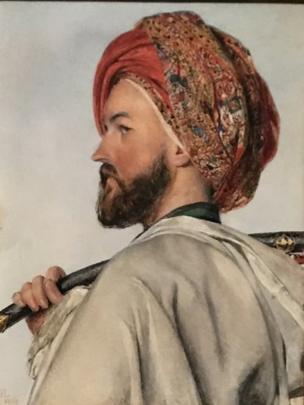 بورترية لبك مملوكي للفنان الاستشراقي البريطاني جون فردريك لويس
