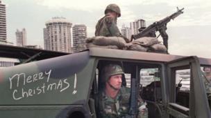 القوات الأمريكية في بنما