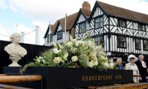 Flowers on display in Stratford-upon-Avon