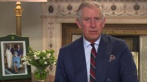 Prince Charles reading from Shakespeare