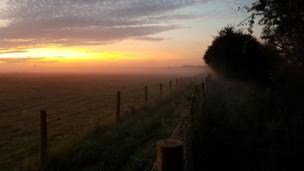 Sunrise over Stanton Harcourt