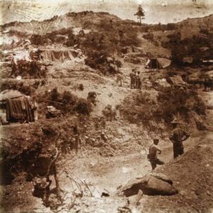 Seddülbahir Cephesi'nde bulunan Avustralyalı askerlere ait kamp, Mayıs 1915
