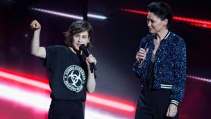 Christine and The Queens and Emma Willis