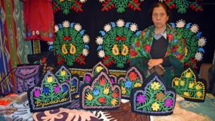 Таджикская национальная вышивка