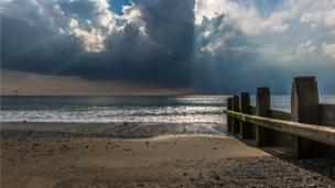 Clouds of the beach at Tywyn, Gwynedd