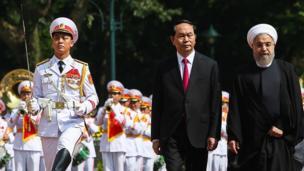 استقبال رسمی رییس جمهوری ویتنام از دکتر روحانی