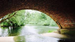 Under a bridge in Godstow
