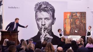 Jean-Michel Basquiat's Air Power being auctioned at Sotheby's in London