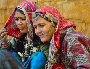 Two women in India