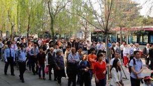 Hari Buruh, Beijing, Cina, pekerja