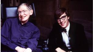 Stephen Hawking and Benedict Cumberbatch